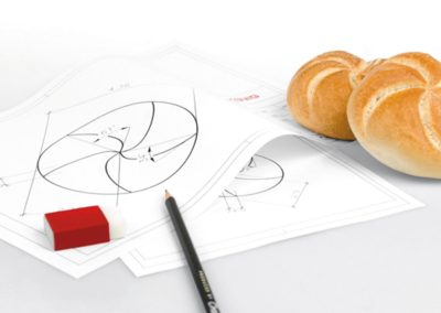 technical drawing for bun production